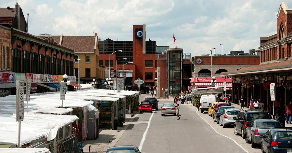 ByWard Market / der Open-Air Markt in Ottawa