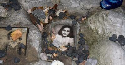 Anne Frank Haus / Poträt von Anne Frank