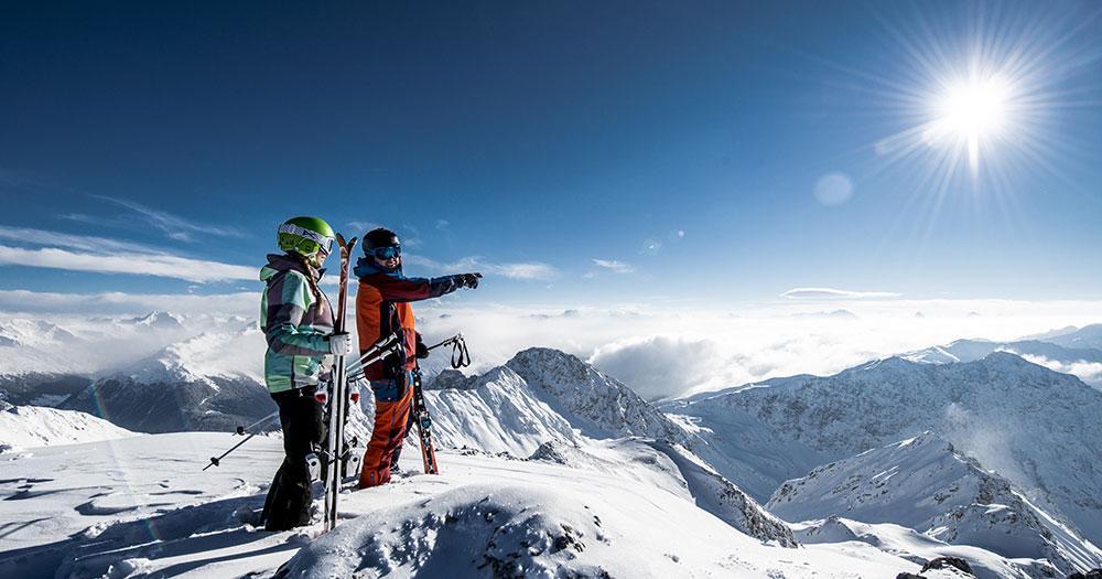 Davos - Sonne am Winter Gipfel