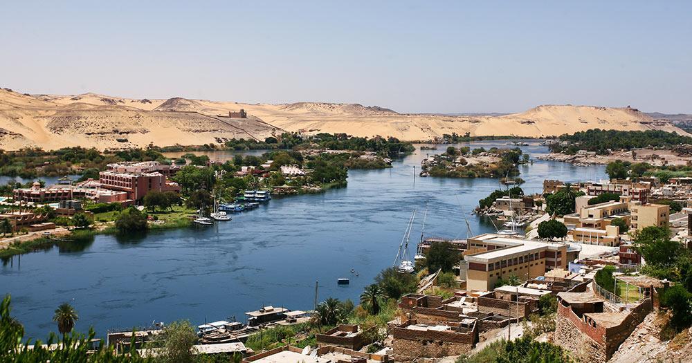 Ägypten - Häuser am Nil