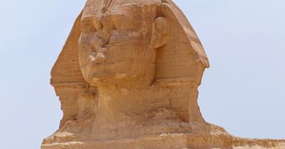 Große Sphinx von Gizeh - Nahaufnahme vom Kopf der Sphinx