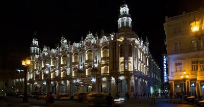 Gran Teatro de La Habana - das Gran Teatro de La Habana am Abend