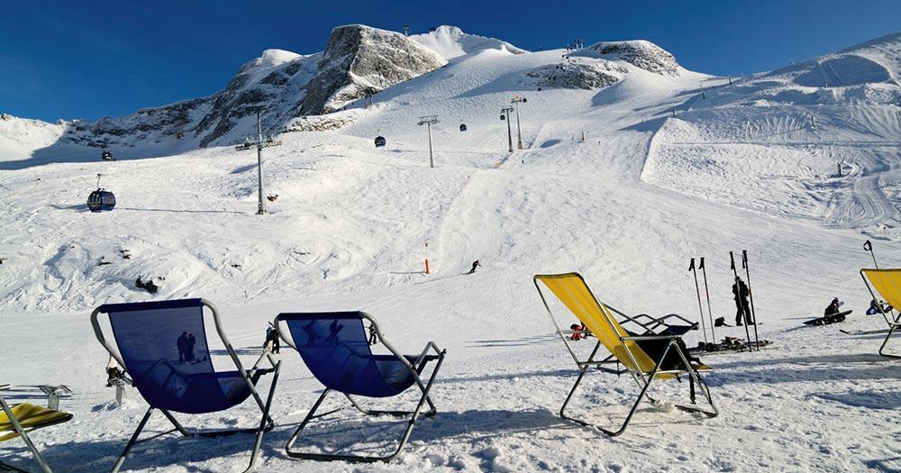 Hintertuxer Gletscher - Die Liegestühle stehen bereit