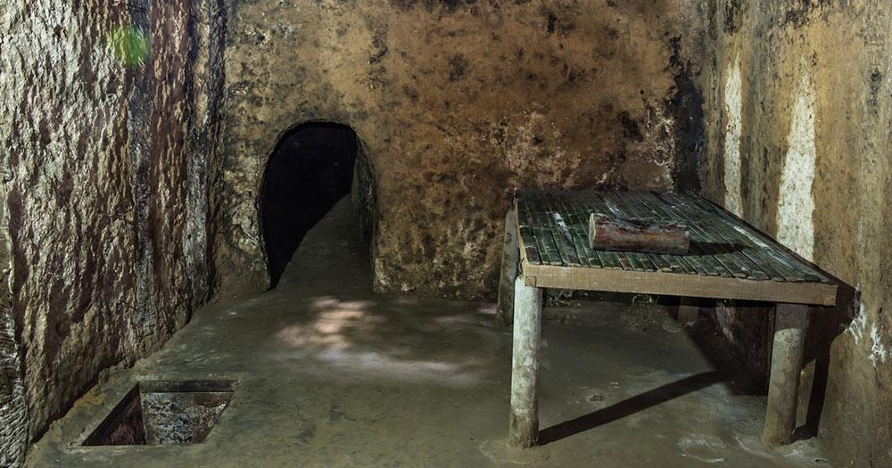 Tunnel von Cu Chi - Detail des Cu-Chi-Tunnels in Saigon