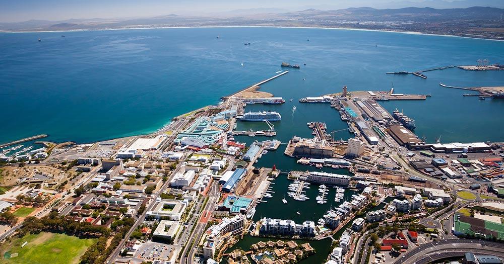 Westkap - Luftaufnahme des Kapstadthafens