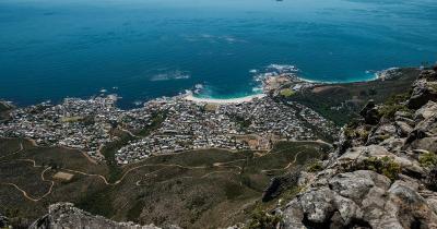 Tafelberg Nationalpark - Blick auf das Meer vom Tafelberg Nationalpark