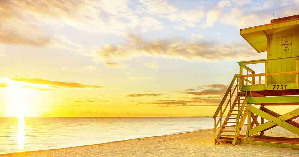 Miami - Sonnenuntergang am Strand