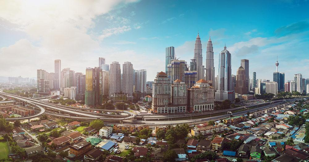 Malaysia - Panoromblick über Kuala Lumpur