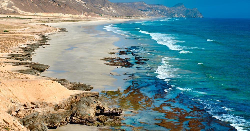 Oman -Strand in der Nähe in Salalah