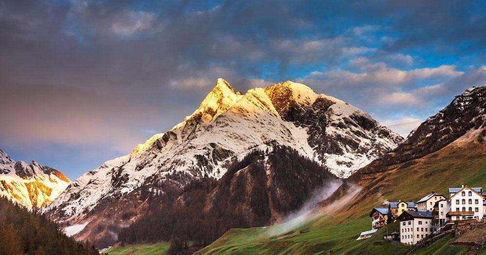 Samnaun - Sonnenuntergang in den Schweizer Alpen