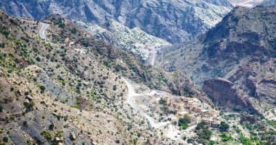Dschabal Schams - Dschabal Schams im Gebirge Dschabal al-Achdar, Oman