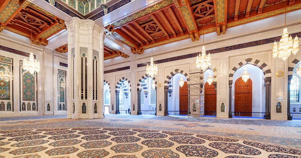 Große Sultan-Qabus-Moschee - der Gebetssaal der Moschee