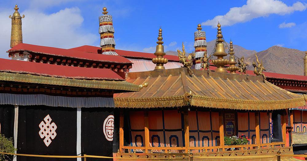 Jokhang Tempel - ein Teil des Jokhang Tempel in Tibet