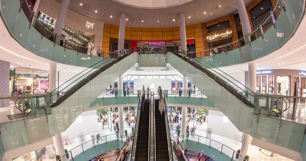 Dubai Mall - Rolltreppen