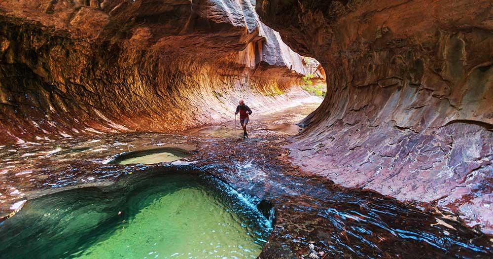 Zion National Park - Wanderung durch die Höhlen