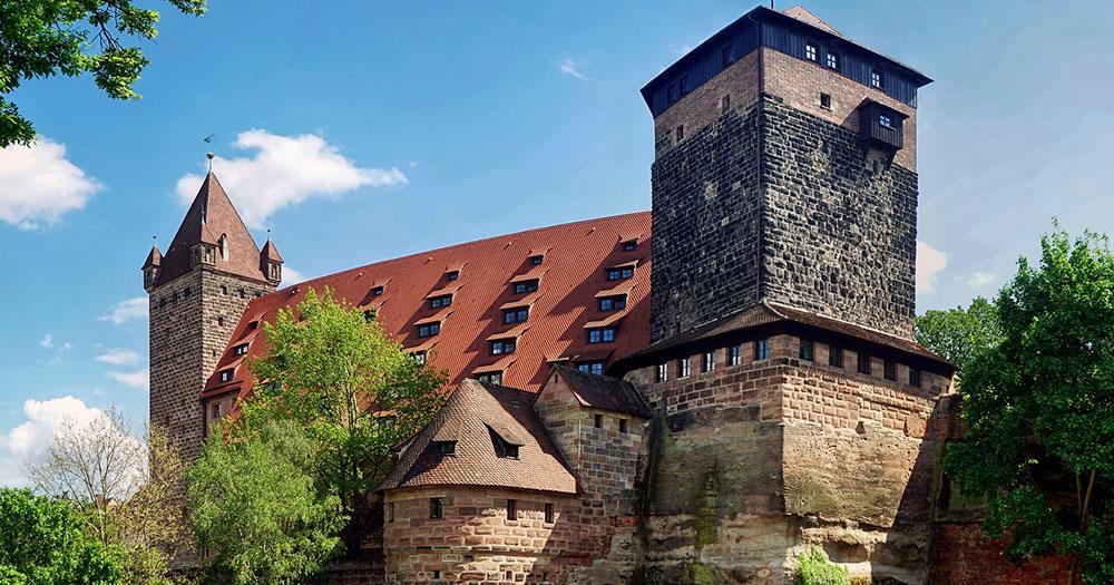 Nürnberg - Kaiserburg mit Fünfeckturm