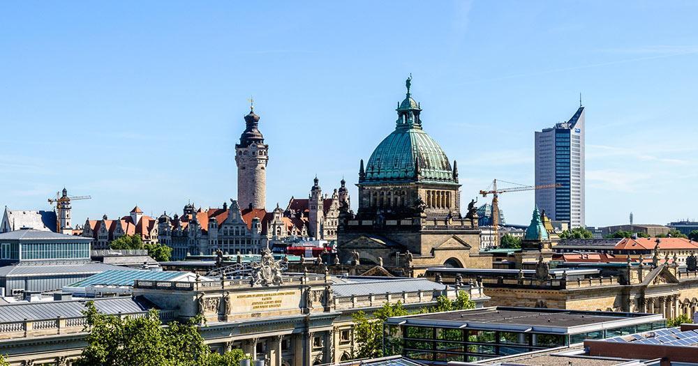 Leipzig - Skyline von Leipzig