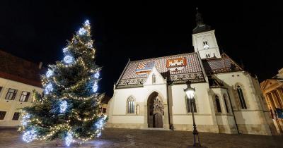 Weihnachtsmarkt Zagreb - St. Markus Kirche