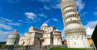 Der schiefe Turm von Pisa - Der schiefe Turm von Pisa, das Baptisterium und die Kathedrale