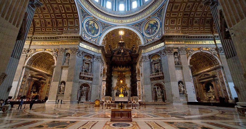 Petersdom - der Petersdom innen