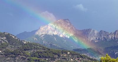 Puig Major auf Mallorca - mit Regenbogen