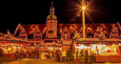 Leipziger Weihnachtsmarkt - Abendliche Stimmung am Weihnachtsmarkt in Leipzig
