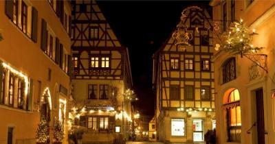 Reiterlesmarkt -  Rothenburg ob der Tauber weihnachtlich geschmückt