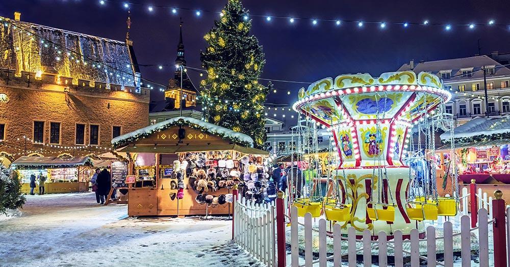 Weihnachtsmarkt Tallinn - Weihnachtliches Karussell
