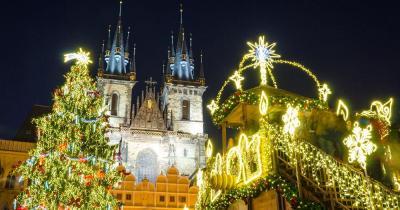 Prager Weihnachtsmarkt - Weihnachtsmarkt am Abend