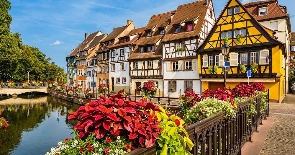 Colmar - Mittelalterliche Häuser am Kanal in Colmar