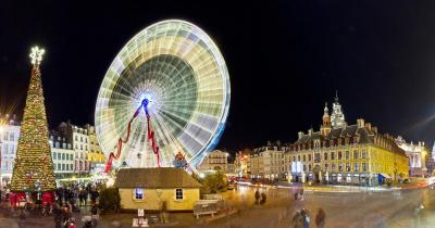 Weihnachtsmarkt Lille - Grande roue à Lille à Noël