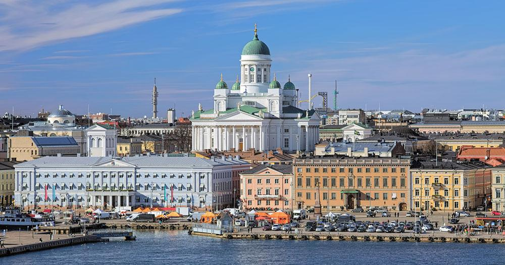 Helsinki - Blick auf die Kathedrale von Helsinki