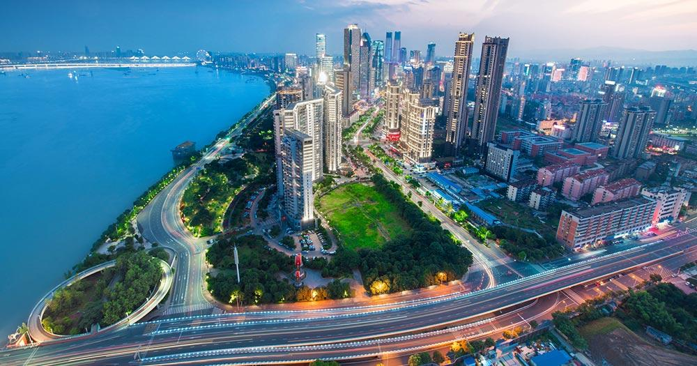 Shenzhen - City Skyline von Shenzhen
