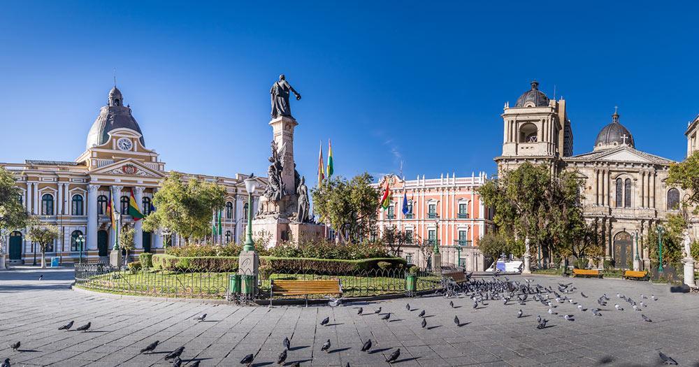 La Paz - Plaza Murillo der Hauptplatz von La Paz