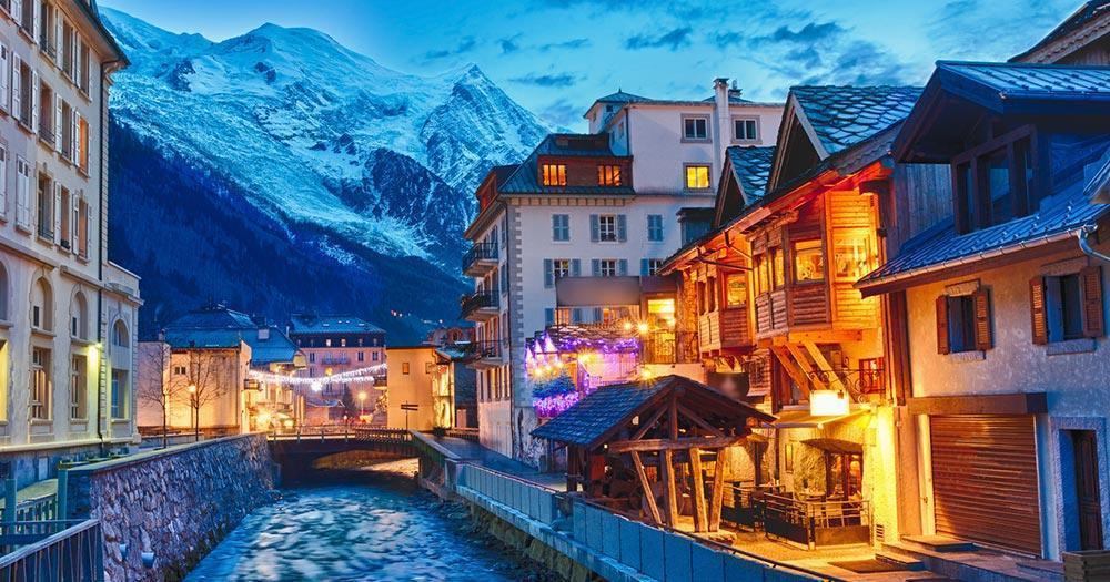 Chamonix-Mont-Blanc - Winterliche Abendstimmung