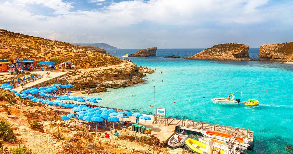 Malta -  die Turquoise lagoon