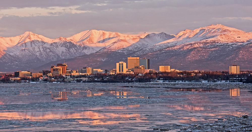 Alaska - Die Anchorage Skyline