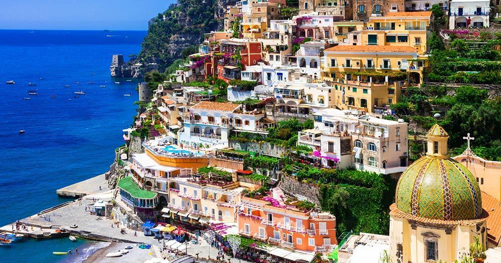 Capri - Positano vor der Abfahrt nach Capri