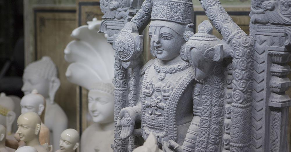 Jaipur - Statue von Krishna