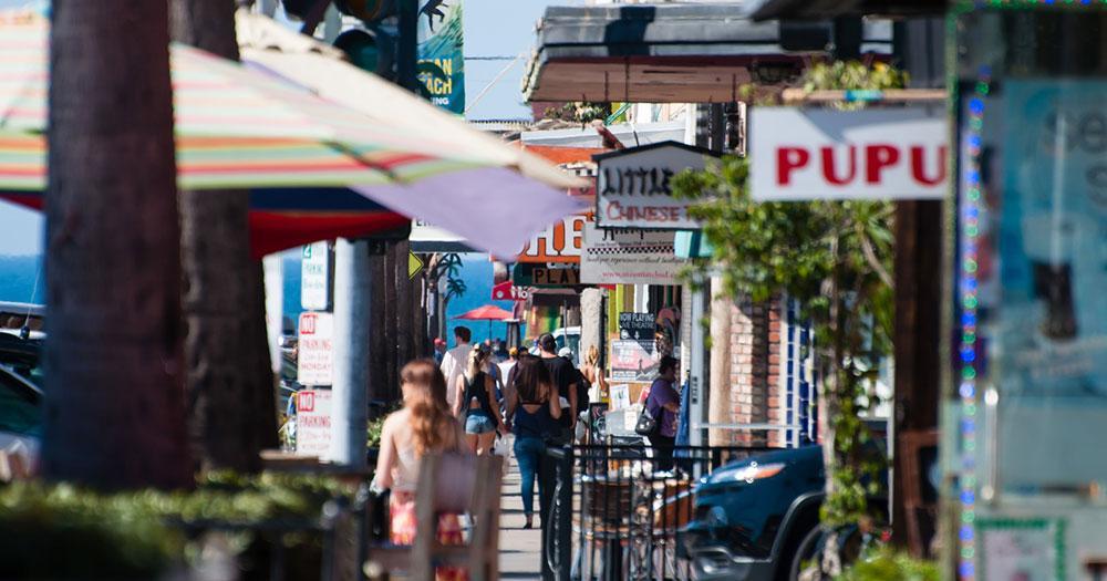 San Diego - Bar und Restaurantszene Newport Avenue