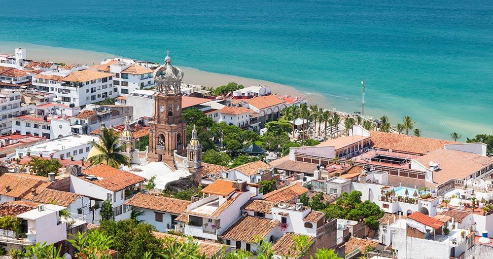 Puerto Vallarta - der Panoramablick auf Stadt und Küste