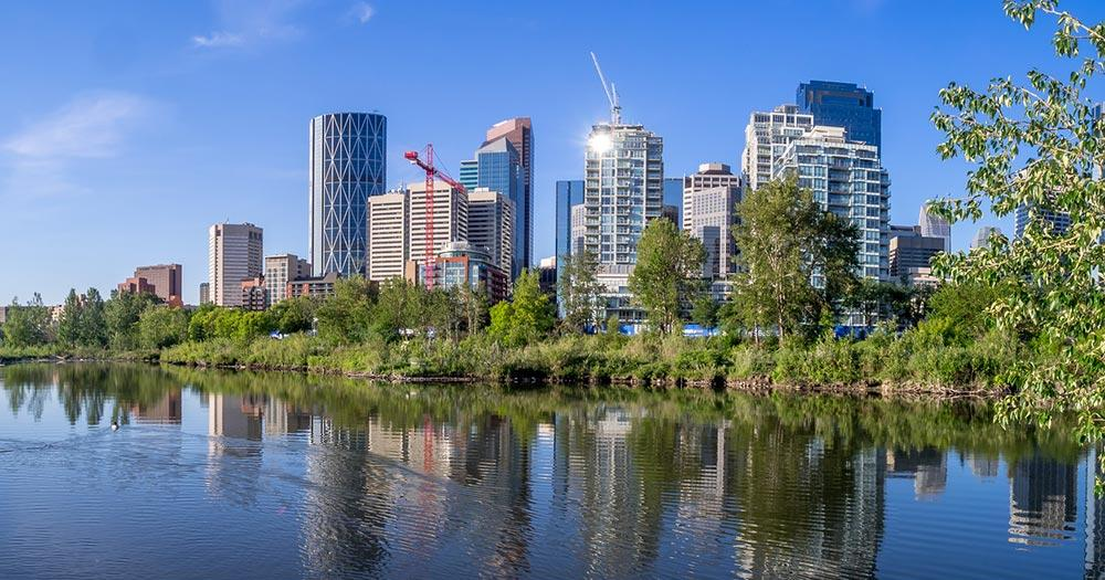 Calgary - Bowriver mit Skyline
