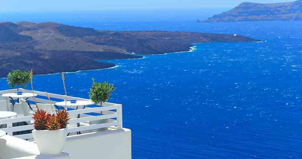 Santorin - Blick ans Meer