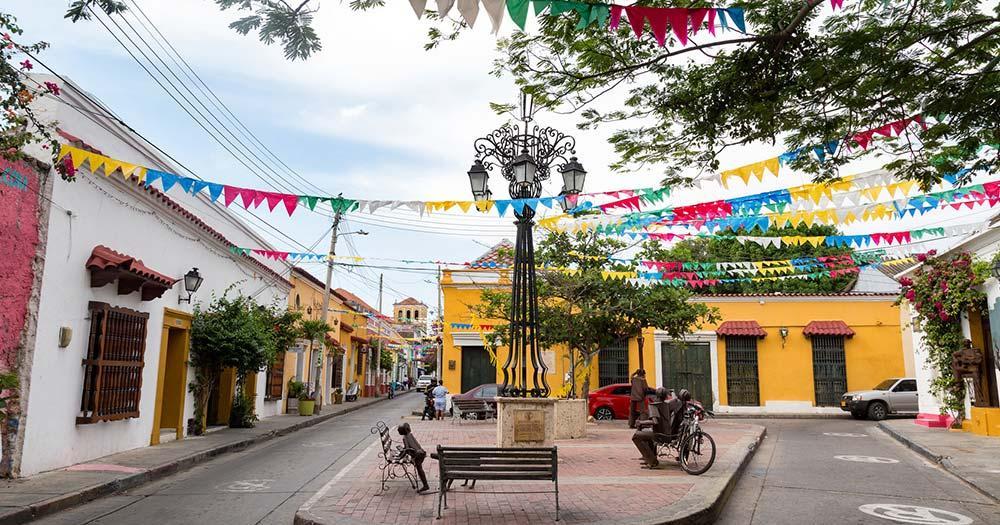 Cartagena - kleiner malerischer Platz
