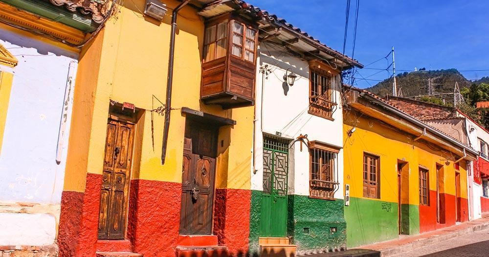 Bogotá - Häuser im Kolonialstil