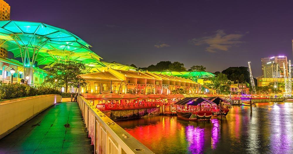 Malakka - Clarke Quay Brücke