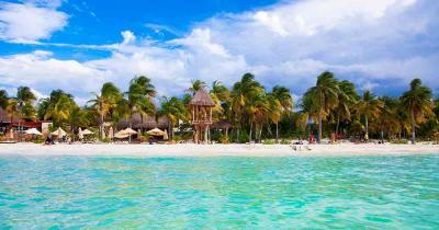 Cancun - Blick auf den traumhaften Strand der Riviera Maya