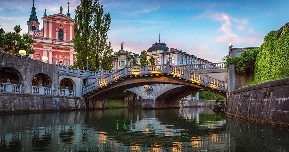 Ljubljana - Tromostovje Brücke