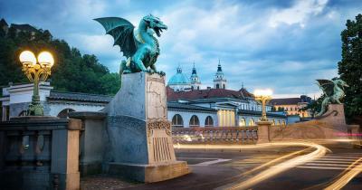 Ljubljana - Drachenbrücke