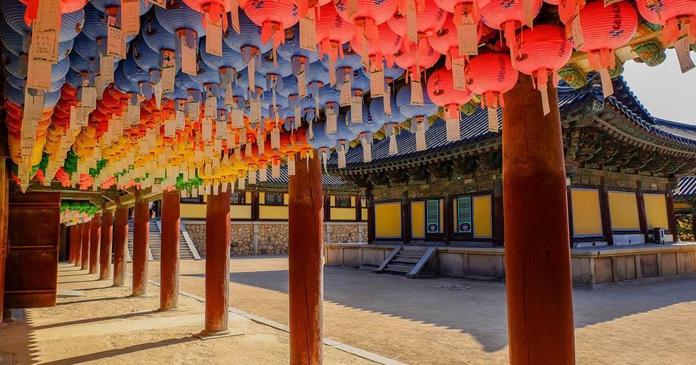 Gyeongju - Hunderte Laternen